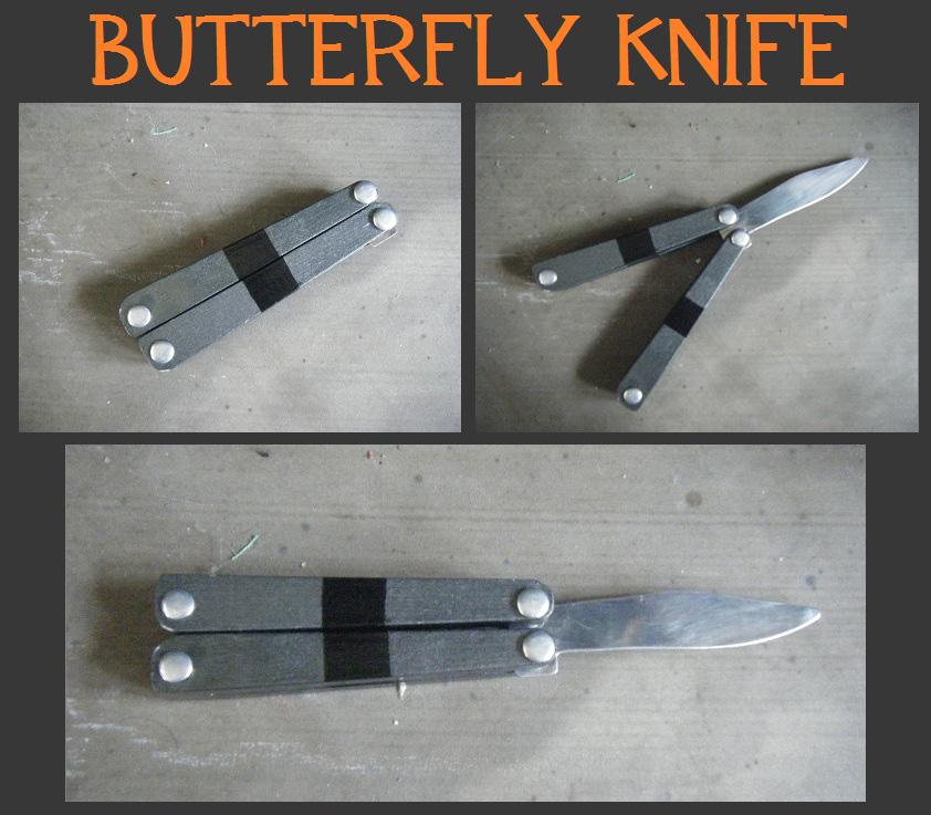 Нож бабочка сделать самому из бумаги