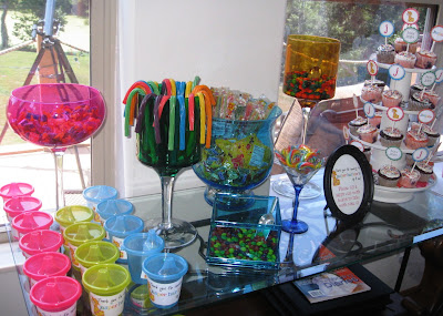 Blue candy ideas for baby shower