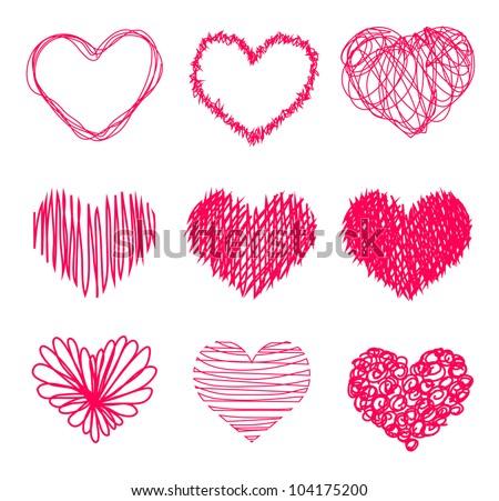 Hand Drawn Heart Clipart Free